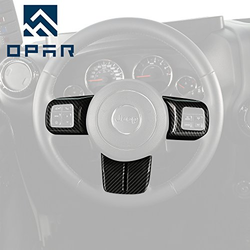Opar Carbon Fiber Steering Wheel Cover Trim - 3PCS/Set