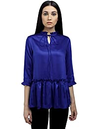Ombre Lane Womens Plain Loose Fit Synthetic Shirt