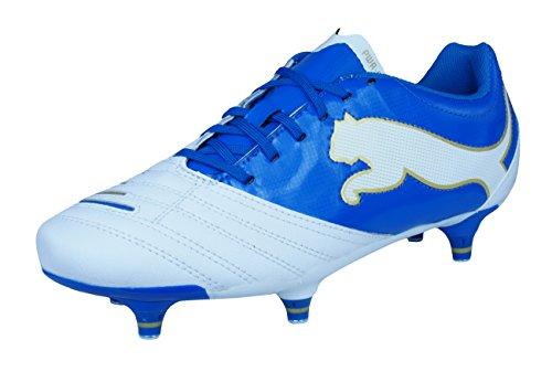 f600dbefb1 Puma Powercat 2.12 FG Jr Boys Leather Football Boots/Cleats-White-4.5