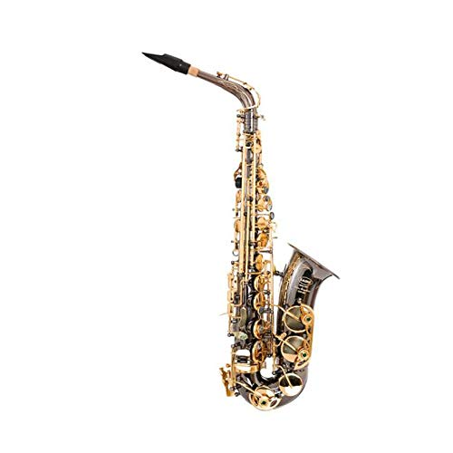Jiansheng01-ou Saxophon, Es-Alt-Saxophon, Black Nickel Gold Anfängerprüfung Professionelles Spielinstrument,Bequem