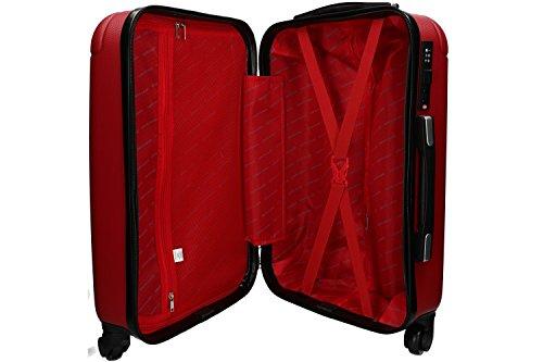 4152U22E13L - 3 Maletas rígidas PIERRE CARDIN rojo 4 ruedas cabina para viajes VS213