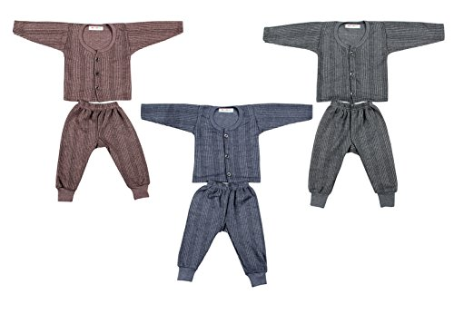 Kuchipoo Front Open Baby Thermal Set - 3-6 Months (Pack of 3)