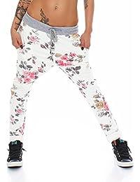 4323 Fashion4Young Damen Haremshose Hose Baggy Boyfriend Freizeithose Jogginghose Sporthose pants