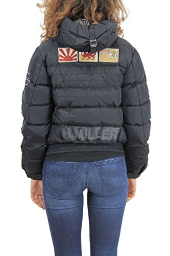 Kejo Ninja Vintage L.E. Women Goose Down Jacket Light Grey and Black Nero