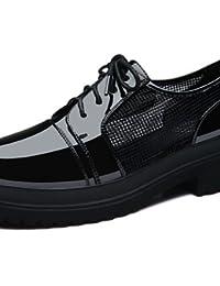 NJX/ Zapatos de mujer - Plataforma - Creepers - Sneakers a la Moda - Casual - Semicuero - Blanco / Plata , white-us5.5 / eu36 / uk3.5 / cn35 , white-us5.5 / eu36 / uk3.5 / cn35