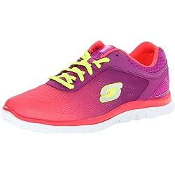Skechers Flex Appeal Style Icon, Sneaker donna, Rosa (Rose (Hppr)), 37