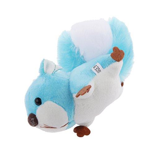 chtier Eichhörnchen Tierfigur Schlüsselanhänger/ Keychain, Perfekt als Geschenke für Kinder und Freunde, Länge: ca. 12 cm - Blau ()
