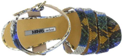 Manas portofino 121L5805PT, Sandales femme TR-B2-Bleu-452