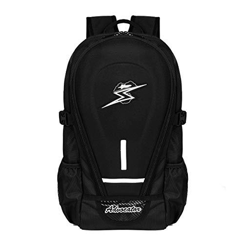 Zaino advocator Moto Uomini con la copertura della pioggia 14inch nero portatile scuola zaini Packsack Daypack spalle Borse zaini da viaggio & Bike & Camping & Outdoor Sports