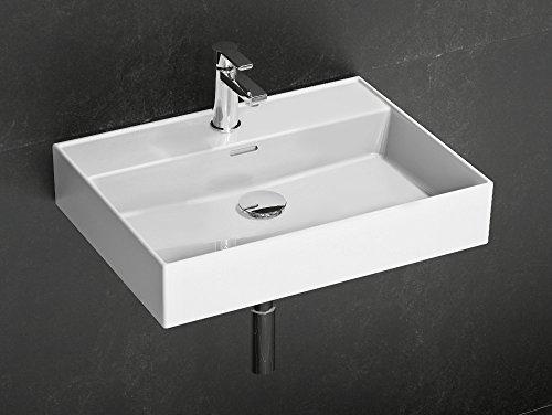 Aqua Bagno Loft Air Design Waschbecken / Aufsatzbecken 60x46cm Keramik weiß Waschtisch Waschschale Möbelwaschtisch (Keramik-sortiment Whirlpool)