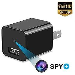 Versteckte Spionagekamera 1080P HD USB Wandladegerät für Sicherheitsüberwachung als Mini Nanny Cam Arena Club, storknsrbp