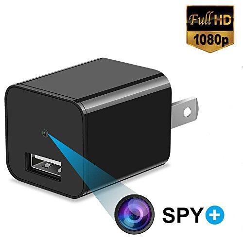 Versteckte Spionagekamera 1080P HD USB Wandladegerät für Sicherheitsüberwachung als Mini Nanny Cam Arena Club Tilt Smartphone