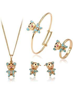 XUPING Bär Form Ohrringe Halskette Ring Armreif Mode Kinder Schmuck
