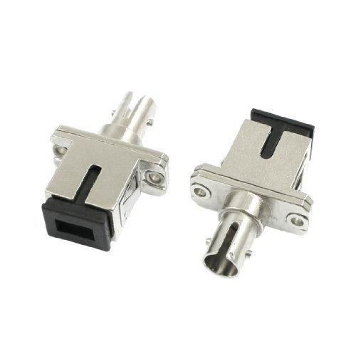 sourcingmapr-2-pezzi-st-sc-flangia-custodia-ibrida-fiber-connettore-ottico-adattatore-accoppiatore