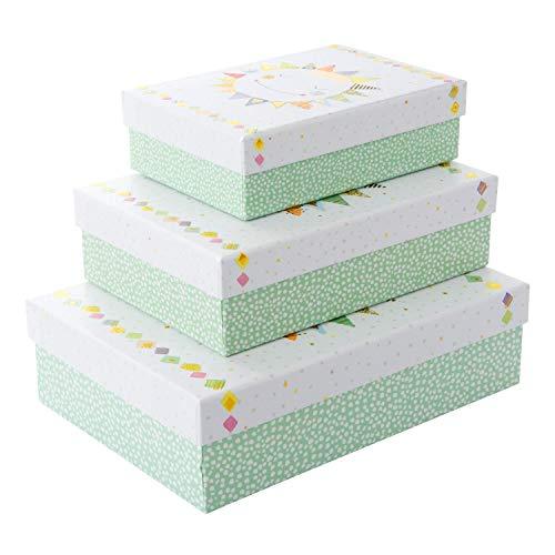 Goldbuch 85 662 - Geschenkkartonagen Set 3-teilig Turnowsky Design Happy Sun, Set mit 3 Geschenkboxen in verschiedenen Größen, 3 Geschenkkartons mit Kunstdruck, Goldprägung und Relief -