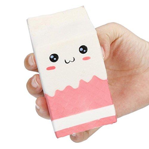 Omiky® Nette weiche rosa Jogurt-Flasche Super langsames steigendes Kinderspielzeug (Rosa)