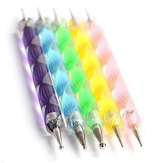 Autek Ein mega Schnäppchen!!! Nail Art Dotting Tools / Spot Swirl - Professionelles Set aus 5 verschiedenen 2 Spitzen Swirl Tools / Spotswirl (jedes Tool hat andere Spitzen Groessen)