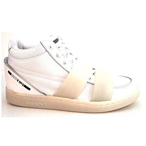 PUMA MCQ Sert MID NU 359761 02 Baskets Mode Femme - Blanc Cassé - Blanc, EUR 40 EU