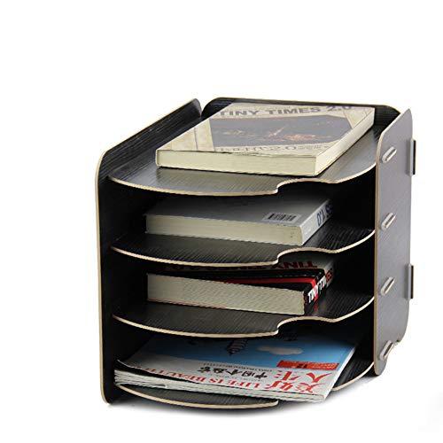 CLEAVE WAVES Forniture per Ufficio da Scrivania Multifunzionali in Legno A 4 Strati con Scrivania in Legno,Black