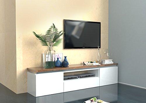 Porta tv Messico semplice design essenziale. Made in Italy. Peso 60 Kg. Dimensioni cm. L180. P40 H44. Con la stessa finitura disponibile anche la madia,la credenza, il tavolo ed il tavolino.