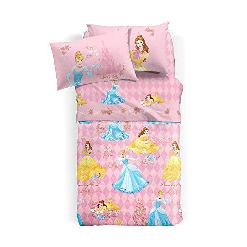 Caleffi Completo Lenzuola Letto Una Piazza e Mezza Art. Princess Festosa 75975 Originale Disney