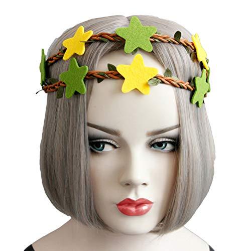 and Sterne Haarbänder Kranz Haarbänder für Brautmädchen Frauen Hochzeit Geburtstag Haar Zubehör Gefälligkeiten ()