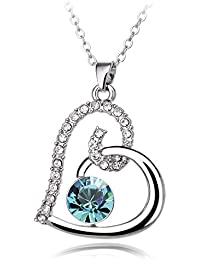 YouBella Gracias Collection Swiss Zircon Jewellery Valentine Heart Pendant / Necklace For Women And Girls