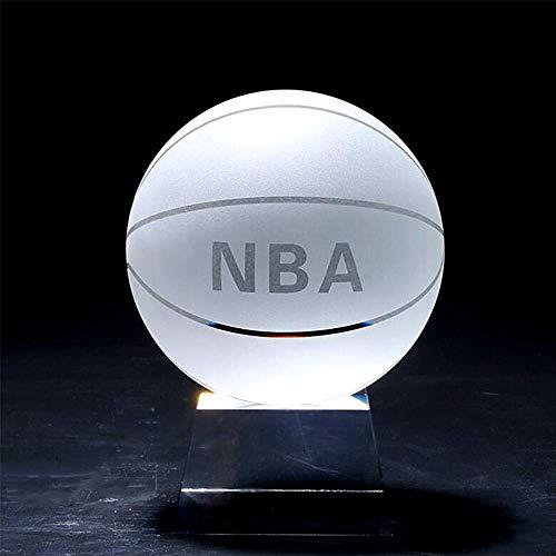 Kzfs Kristallkugel Klar Asiatische Quarz Glas Kristall Basketball Kugel Fengshui Geschenk Briefbeschwerer Home Decoration 60mm NBA-Ball mit Basis - Quarz-kristall-globus
