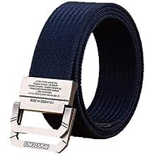 Aiweijia Hombres y mujeres Estilo militar Estirar Correa duradera Cinturón  elástico de liberación rápida Cinturón de ff32b04b0029