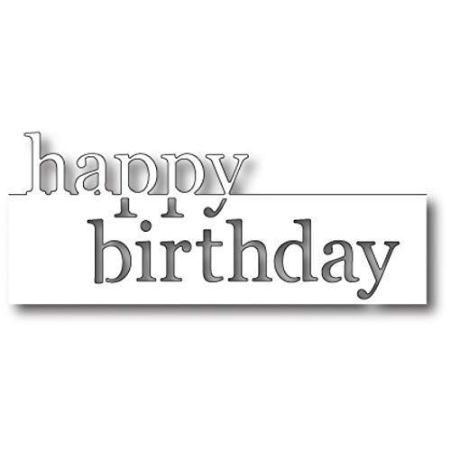 FEIDA Happy Birthday Buchstaben-Stanzschablone DIY Scrapbooking Decor Prägung Schablone – Silber