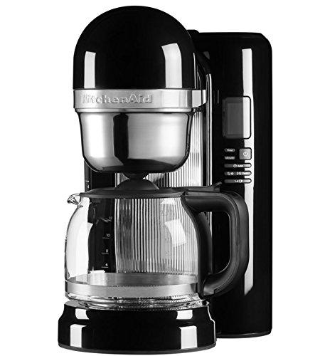 KitchenAid 5KCM1204EOB Independiente Semi-automática Máquina de café en cápsulas 1.7L 12tazas Negro - Cafetera (Independiente, Máquina de café en cápsulas, 1,7 L, De café molido, 1100 W, Negro)