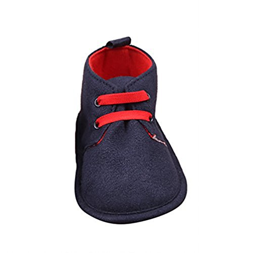 YOUJIA Unisex Baby Sandalen Neugeborenen Sandale Schuhe Rutschfest Ersten Wanderer Sommerschuhe Dunkel Blau