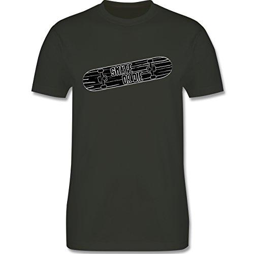 Sonstige Sportarten - Skate or Die - Herren Premium T-Shirt Army Grün