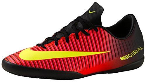 Nike Jr Mercurialx Vapor Xi Ic, Chaussures de Foot Mixte Bébé, Orange/Schwarz/Pink Total Crimson/Volt-Black-Pink Blast