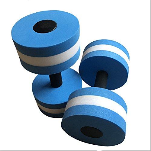 Signeru Aqua Fitness zubehör Aqua Jogging hanteln Aqua Fitness Training Geräte Blau&Weiß Schlaufen(1 Stück)