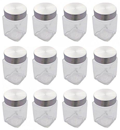 Vorratsglas Gewürzglas Glas mit Edelstahlverschuss 300 ml 12 Stück