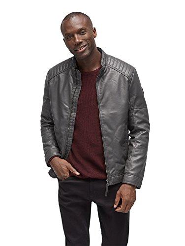 TOM TAILOR Herren Jacke Fake Leather Price Starter iron drak grey