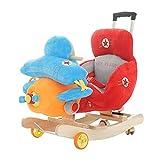 Musik Schaukelpferd Holz,Flugzeug Plüsch Rocker Chair Mit Sitz Und Sicherheit Gürtel Baby Kinderwagen Für 0,5-4 Jahre Alt
