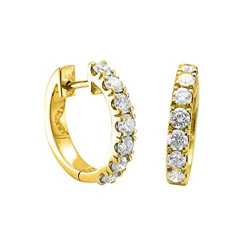 Diamond Delight da donna, 14 k & Huggies-Orecchini a cerchio, (I3 1 k), Oro giallo, colore: oro, cod. E11588-I2I3-14KY