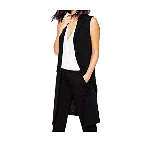 cappotto Koly _Donne lungo Blazer vestito della maglia del cappotto Fit formale Casual Vest (S)
