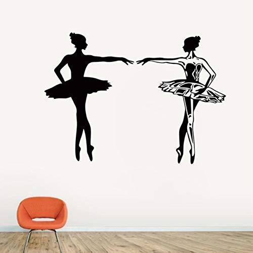 Tanzen Ballett Mädchen Wandtattoo Aufkleber Worte für Kinder Kinderzimmer Tanzraum Tanz Trainingsgelände 57X57 cm