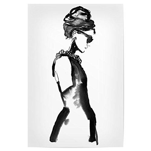 """artboxONE Poster 60x40 cm Fashion \""""Ink Audrey\"""" hochwertiger Design Kunstdruck - Bild Fashion von Sarah Plaumann"""
