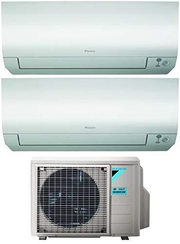 Dual Split Klimagerät 9000 + 12000 Btu, Inverter, Klasse A+++/A+++ Gas R32 Wi-Fi Perfera 2MXM50M9+FTXM25/35N