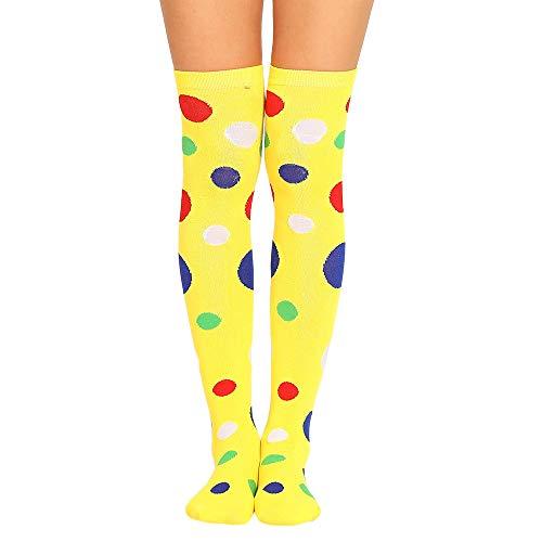 Alini AIni Damen-sexy Oberschenkel hoch über dem Knie Socken farbige Punkte lange Socken