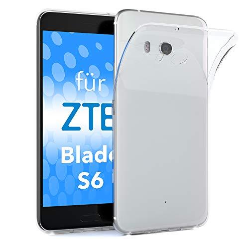EAZY CASE ZTE Blade S6 Schutzhülle Silikon, Ultra dünn, Slimcover, Handyhülle, Silikonhülle, Backcover, Durchsichtig, Klar, Transparent