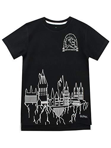 HARRY POTTER Jungen Hogwarts T-Shirt Schwarz 146