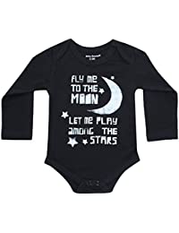 Fly Me to the Moon Infant Baby Onesie Boy / Girl Black