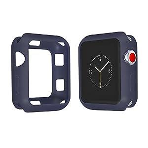 Apple Watch 4 Hülle 40mm 44mm Leichte Weiche Displayschutz kratzfestes Case Silikon TPU Schutzhülle für Apple Watch Serie 4 40mm 44mm