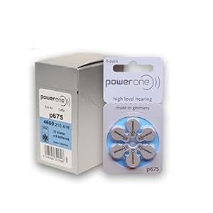 Piles auditives Power One P675 par 10 Plaquettes