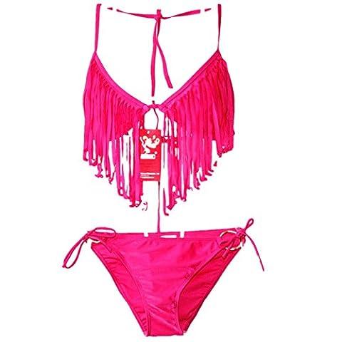 O-C - Maillot de bain deux pièces - Femme rose rose S, M, L, XL